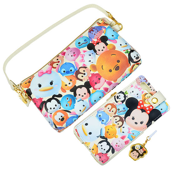 Mobile Case Pouch Collection : Tsum Tsum Handbag with Smartphone case Set