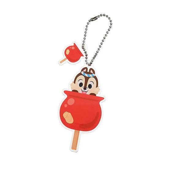 Ball Ring Keychain Set - Chip Candy Apple Die-cut Festival Keychain