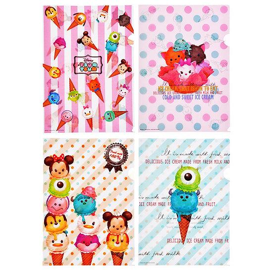 File Collection - Mickey & Friends Tsum Tsum ice-cream File Set (4pc)