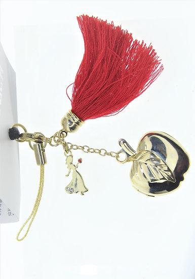 DUST PLUG - Snow White Apple Charm Dust Plug Keychain