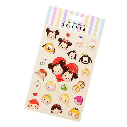 Disney Characters Sticker Collection - Tsum Tsum Valentine Love Sticker