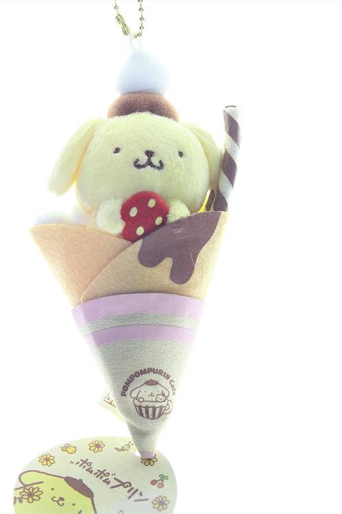 Sanrio Keychain Plushie Series - Pom Pom Pudding ice-cream Crepe Plushie