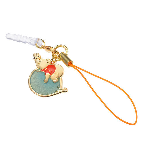 Strip Dust plug Keychain Collection -Winnie The Pooh & Balloon
