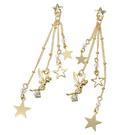 Twinkle Bell Star tangling earring