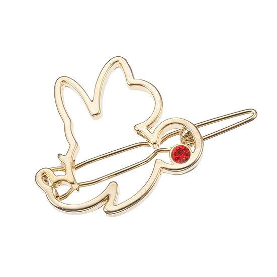 Hair Clip Collection - Minnie Red Charm o Shiny Heart Hair Clip