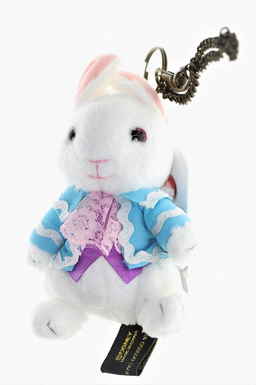 Plushie Keychain Series:  Alice in Wonderland the looking glass White Rabbit