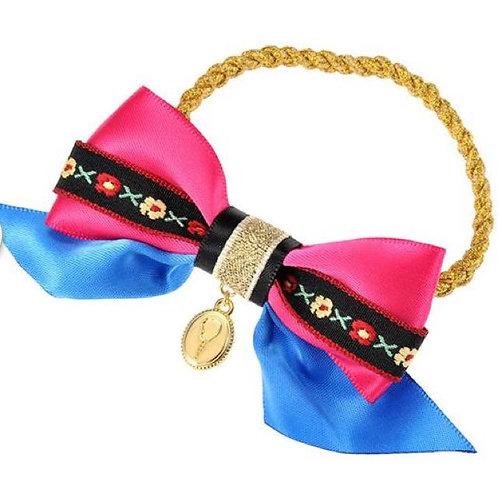 Elastics Decoration Series : Frozen Anna Ribbon Hair Bow Bobbles