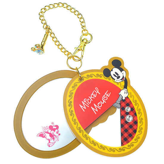Ball Ring Keychain Collection -MICKEY TROMPE L'OEIL series : Mickey Mirror chain
