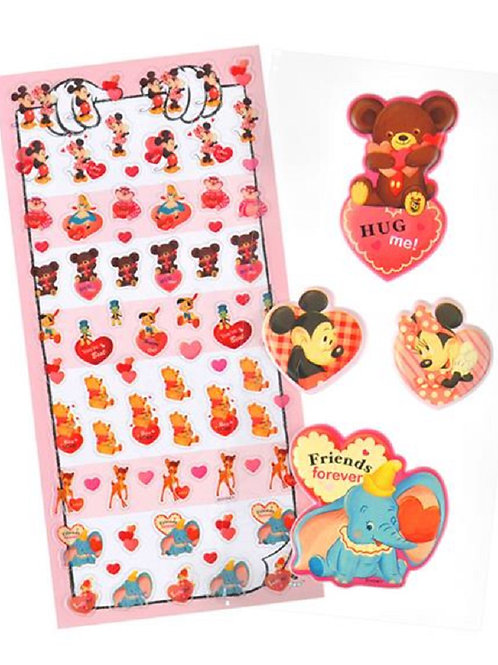 Disney Characters  love and hug stickers