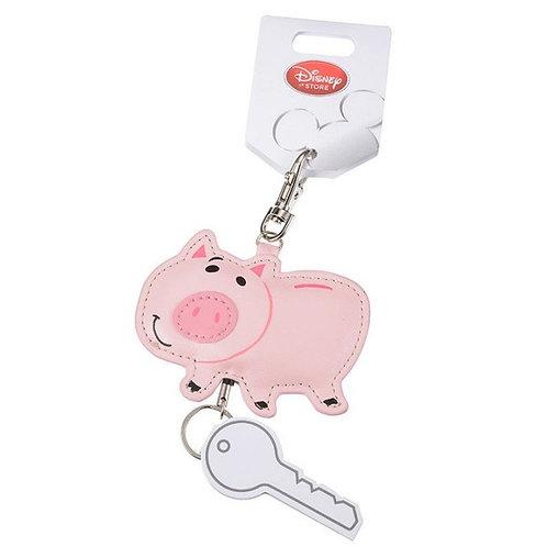 Keychain leather die-cut - Toy story  Hamm Piggy