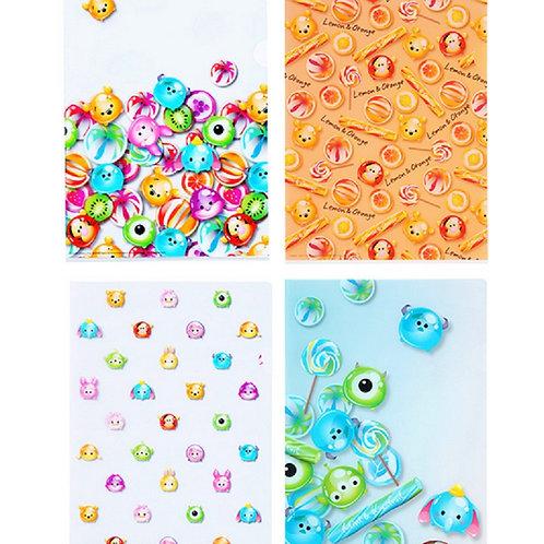Candy Tsum Tsum series File Set  ( 4 pcs per set )