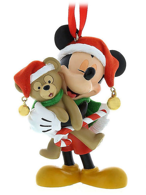 Home Decoration Collection - Mickey & Duffy Christmas Joy Ornament