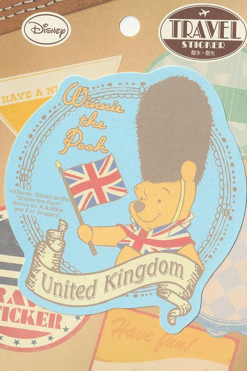 Decoration Sticker Collection -  Winnie the Pooh UK Travel Disney Decor Sticker