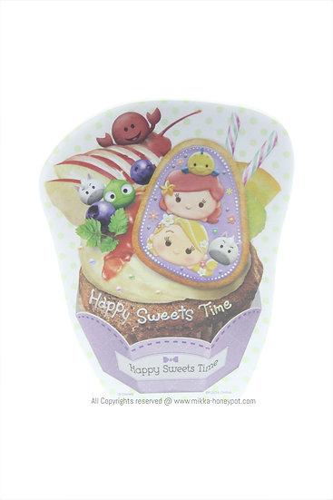 Memo Collection - Tsum Tsum Happy Sweets Time Ariel & Rapunzel Fruit Cake Memo