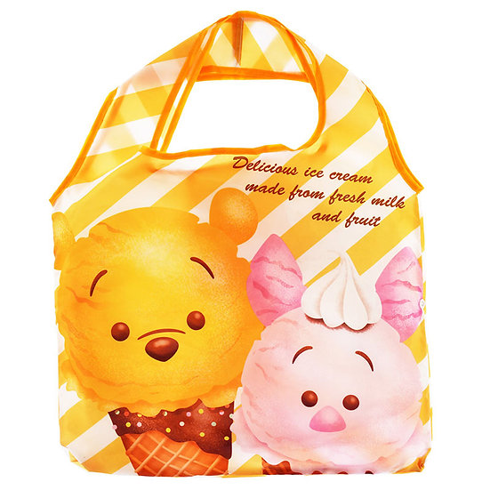 Eco Foldable Tote Bag Collection : Tsum Tsum ice-cream Winnie the Pooh Bag