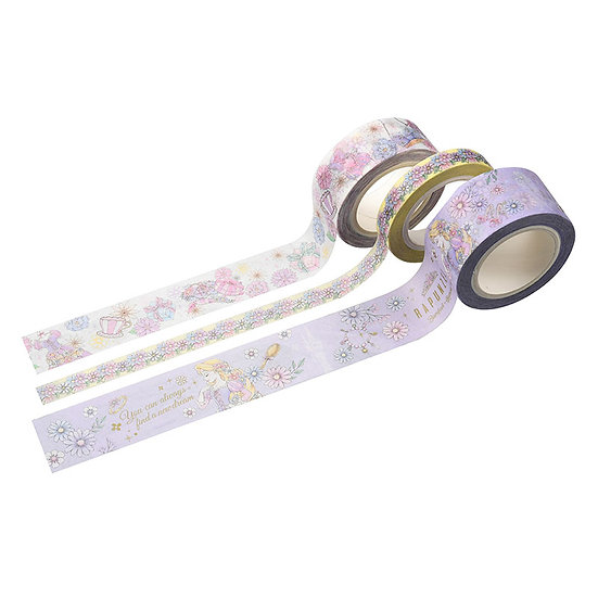 Washi tape Collection - Disney Rapunzel Romantic Dress Washi Tape Set