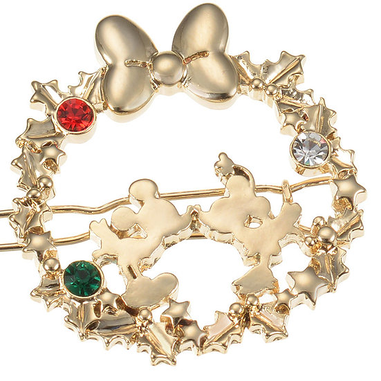 Hair Clip Collection - Christmas Wreath Mickey & Minnie Romances