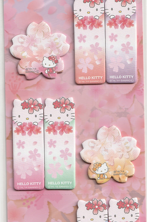 Memo Collection -Hello Kitty Cherry Blossom Petals Sticky Memo Tag