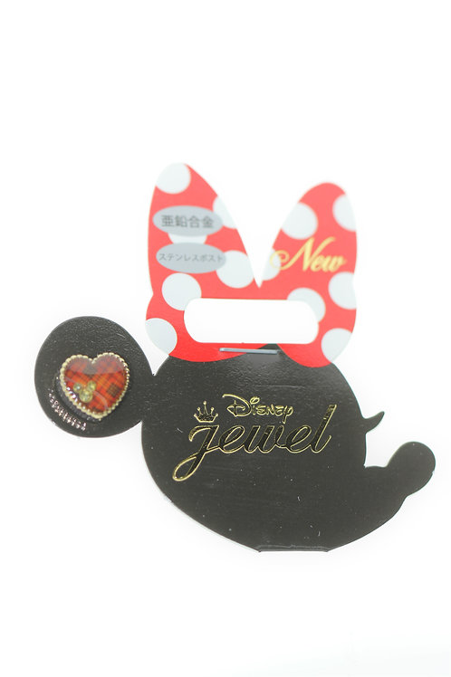 Single Design Earring Collection : Christmas Red Love Mickey Single Side Earring