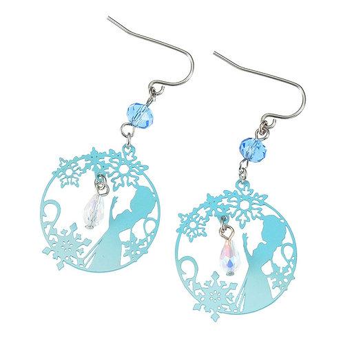 Frozen series -  Elsa Snow tear Earring