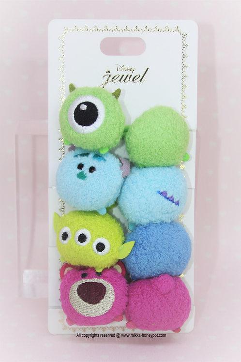 Elastics Collection- Tsum Tsum  Pixar Toy story & Monster EC Hair Bobbles Set