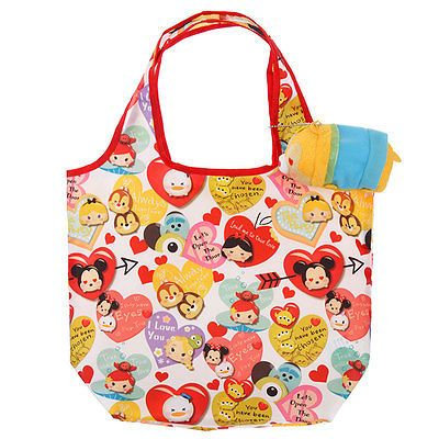 Eco Foldable Tote Bag Collection : Tsum Tsum Plushie Tote Bag Valentine Clarice