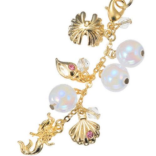 Disney Handphone Strap : Shara Shara The little mermaid Ariel Seashell of Pearl
