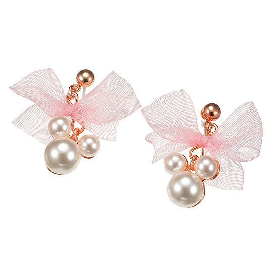 Earring Collection : Mickey Ribbon Pearly Earring