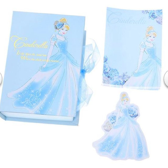 Memo Box Series - Cinderella book box with memo & mini card set