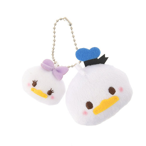 Plushie Keychain Collection - Cheeky Pink series Donald & Daisy Plushie Keychain