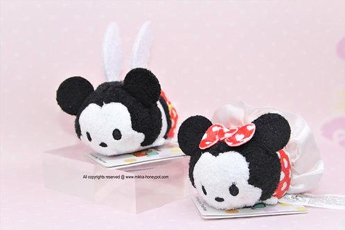 S size Tsum Tsum Set - Mickey & Minnie White Valentine Day Tsum Tsum