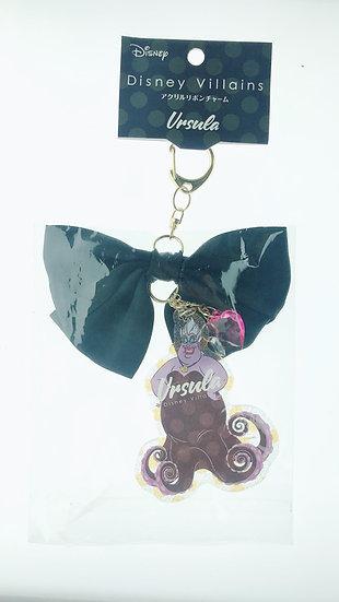Snap Hook Keychain Collection -Villains Ribbon Little Mermaid - Ursula