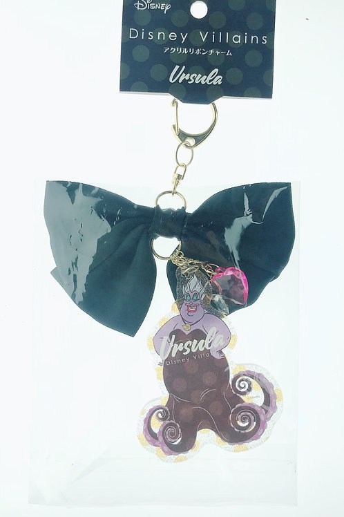 Snap Hook Keychain Collection -Villains Ribbon Little Mermaid - Ursula