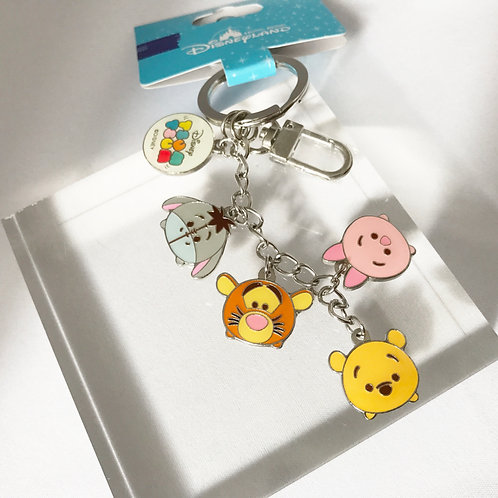 Ring Keychain collection HongKong Disneyland Winnie the Pooh & Friends Tsum Tsum