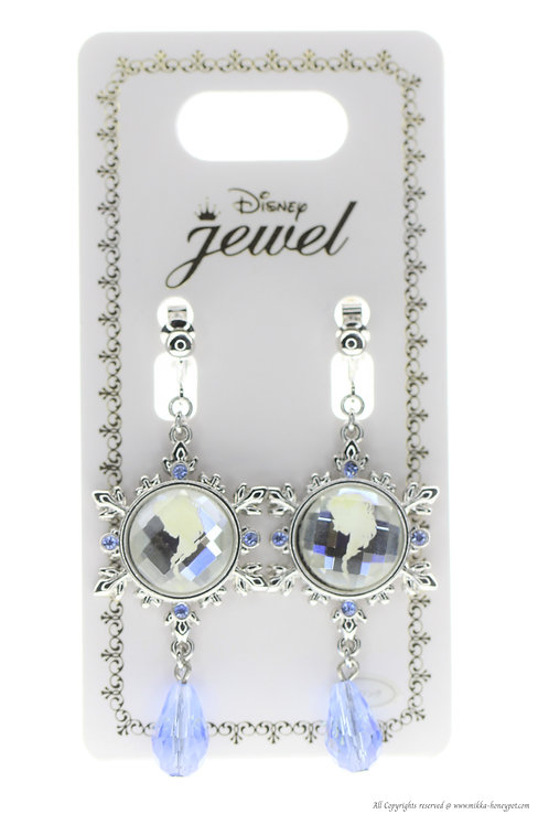 Clip Earring Collection :  Frozen Snowflake Elsa Crystal Drop non-pierce Earring