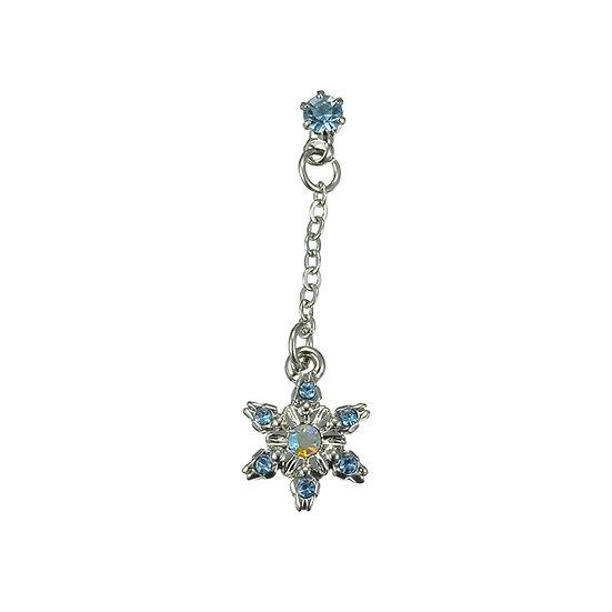 Single Design Earring Collection : Frozen Elsa Snowflake Shiny Diamond Earring