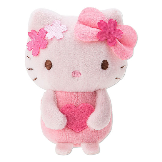 SANRIO Plushie Series : Hello Kitty beanbag stand Sakura Summer Love
