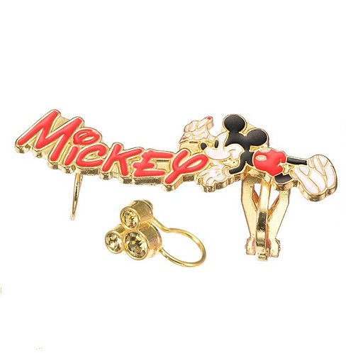 Clip Earring Collection :  MICKEY TROMPE L'OEIL 2 pc earring
