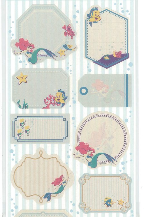 Long Pack Sticker Collection - Message Seal Sticker Little Mermaid