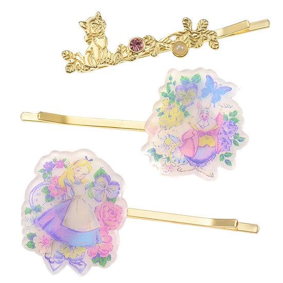 Hair Pin Collection -Alice in  Curious garden Hair Pin Set ( 03 pc )
