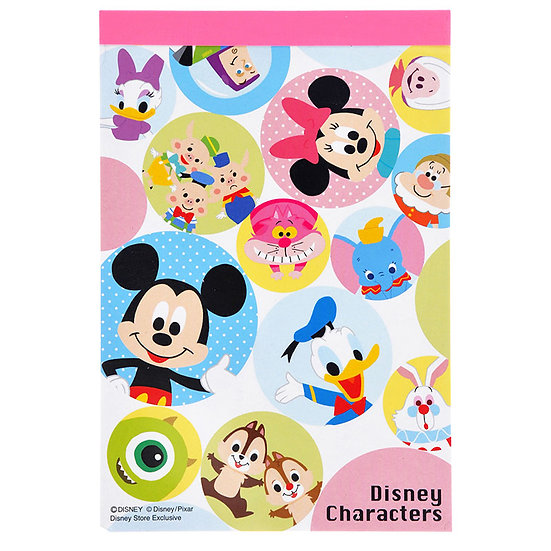 Memo Collection - Disney Characters pop A6 Memo Note Pad