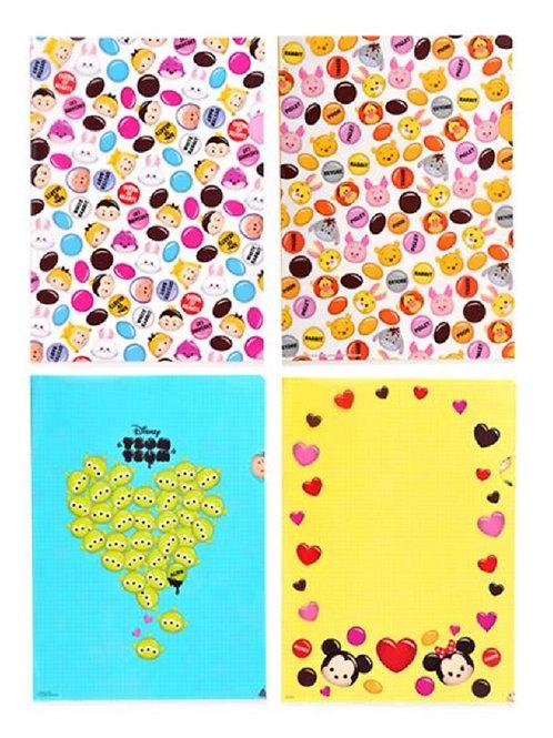Tsum Tsum Chocopop series File Set  (4 pc per set)