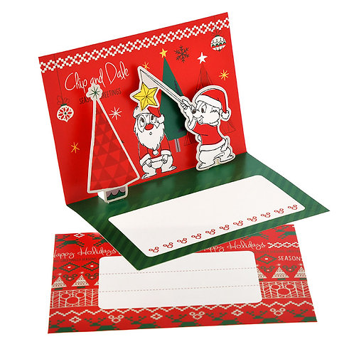 Letter/Greeting card - Christmas Card Mickey & Friends - CHIP & DALE