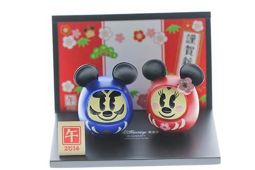 Home Decoration - New Year 2014 (mouse) Disneyland Mickey & Minnie Mascot Daruma