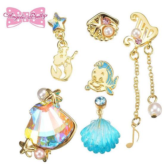 Earring Set Collection :  Angelic Pretty Pierce clip set - Little Mermaid