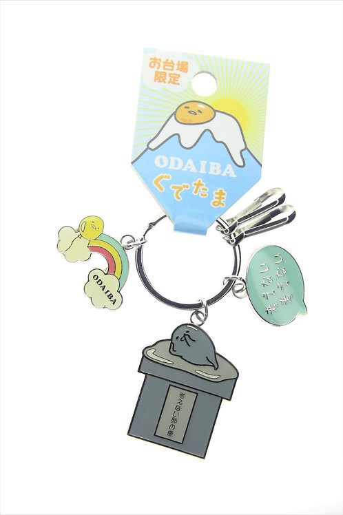Ring Keychain Collection - Odaiba Gudetama Status Keychain