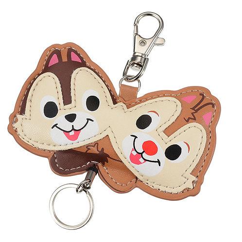 Little Accessories - Leather die-cut chip & Dale Key Holder Keychain