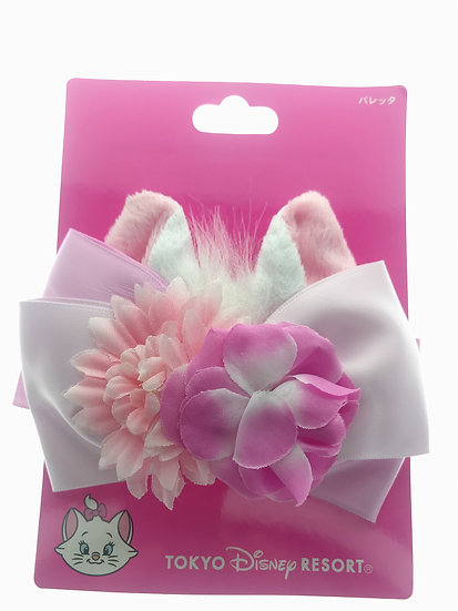 Barrette Hair Wear Collection : Disneyland Marie Cat Ear Ribbon Flower Clip