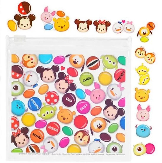 Sticker Pack Collection - Tsum Tsum Chocolate Clear sticker with pouch