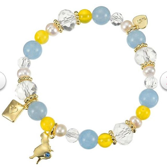 Natural Stone Series : Alice Blue Stone ( Happiness ) Bracelet